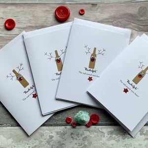 Reinbeer Pack of Four Christmas Cards