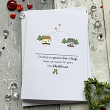 Load image into Gallery viewer, Sending You Peace, Love & Hugs Pack of Four Christmas Cards