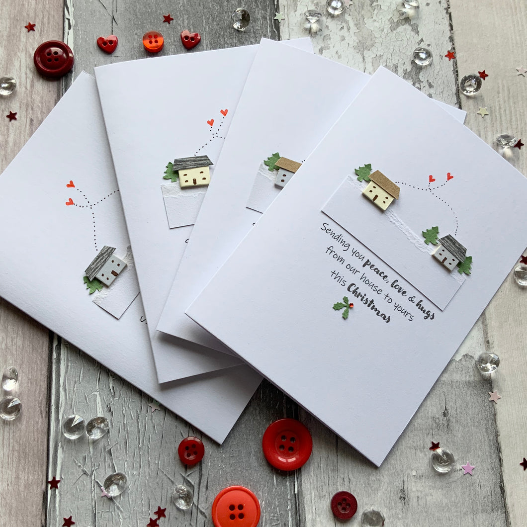Sending You Peace, Love & Hugs Pack of Four Christmas Cards