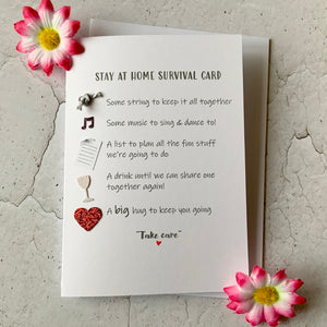 Stay At Home Survival Card