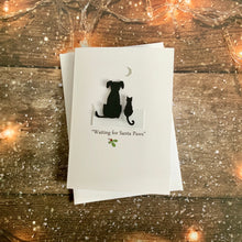 Load image into Gallery viewer, Waiting For Santa Paws Pack of Four Christmas Cards