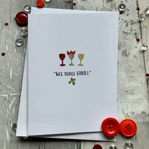 Wee Three Gins Christmas Card