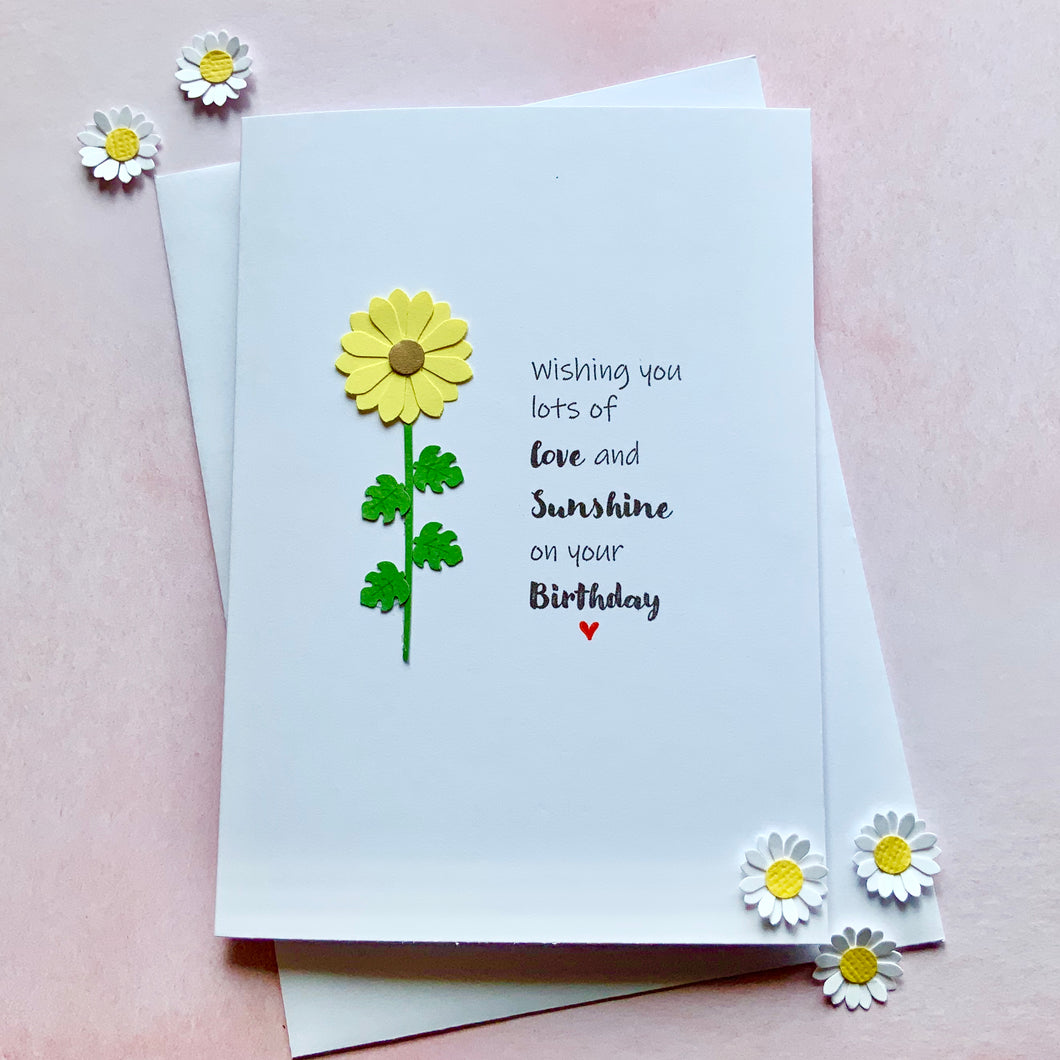 Wishing you lots of love and sunshine- Personalised