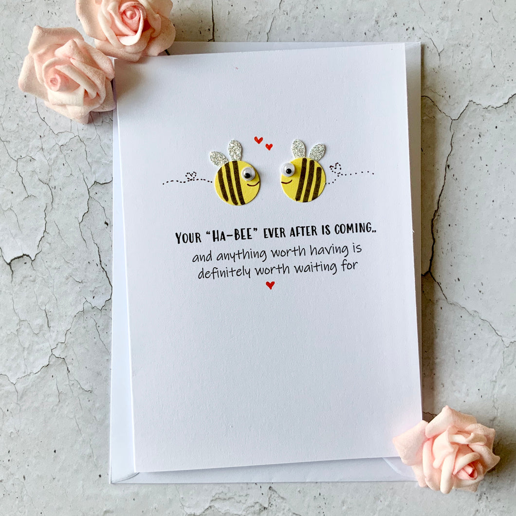 Your Ha-Bee Ever After Is Coming - Personalised Card