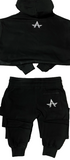 "Women's ""Bottom Line"" Crop Hoody Set (Black)"