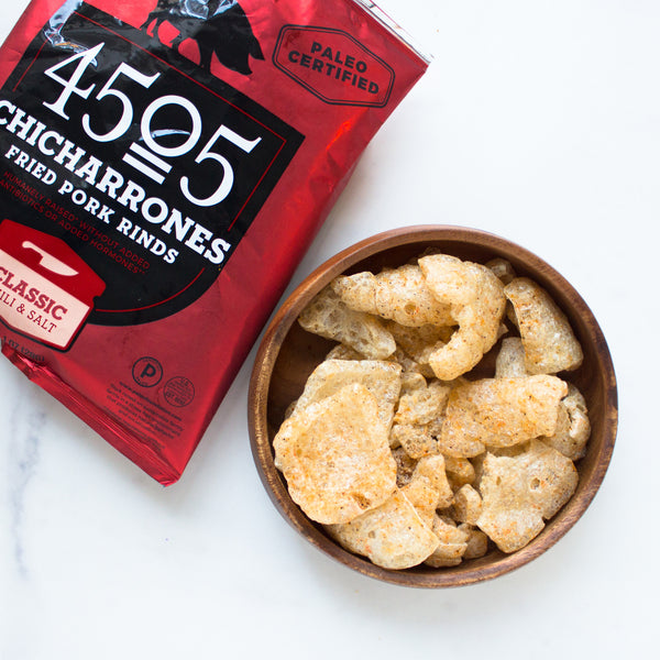 Classic Chili & Salt Chicharrones (Paleo)