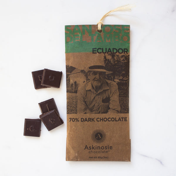 70% Ecuador Dark Chocolate Bar