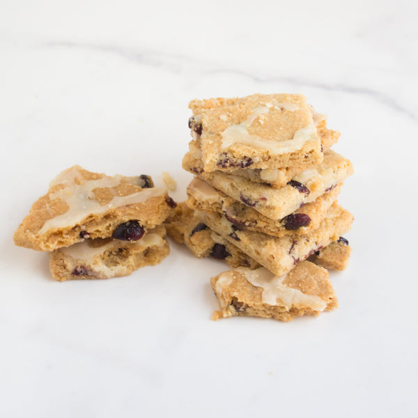 Lemon Cranberry Brittle Cookies