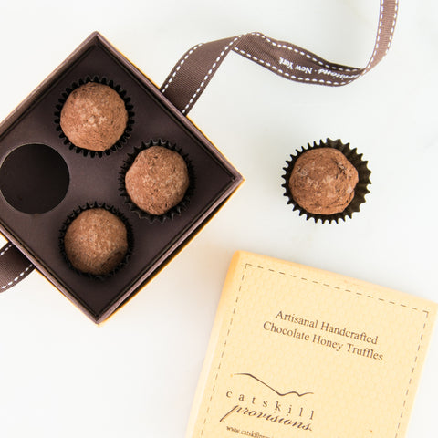 Honey Infused Chocolate Truffles