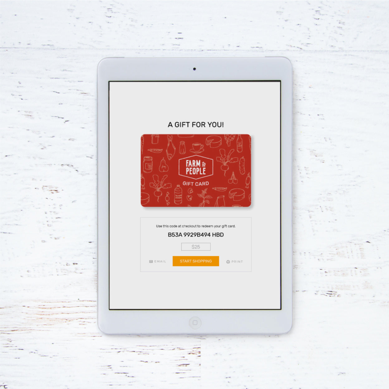 E Gift Card Farm To People Small Batch Artisanal Food And Gift