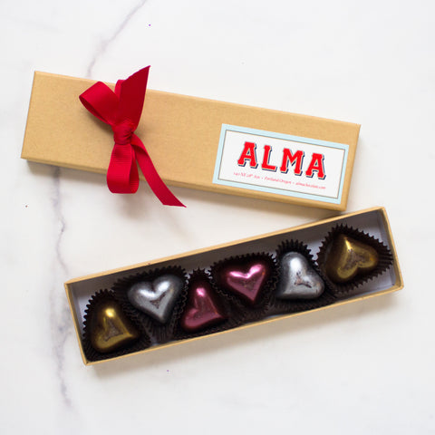 Filled Dark Chocolate Hearts