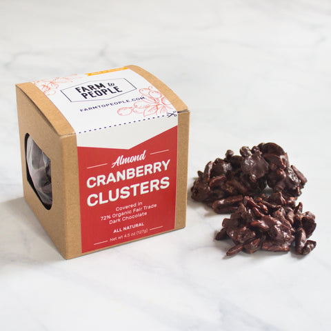 Almond Cranberry Chocolate Clusters