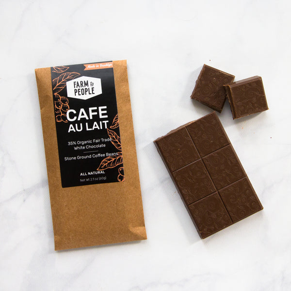 Café au Lait White Chocolate Bar (Crate)