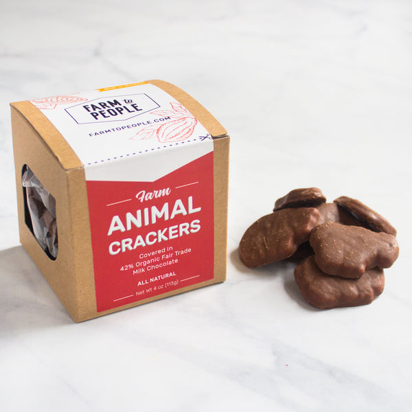 Chocolate Covered Farm Animal Crackers (Crate)