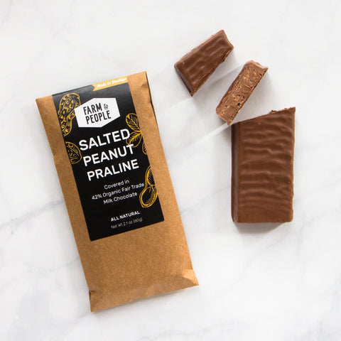 Salted Peanut Praline Milk Chocolate Bar
