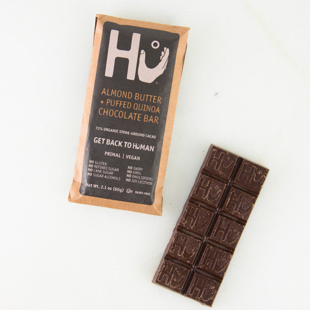 Almond Butter & Puffed Quinoa Dark Chocolate Bar By Hu Kitchen ...
