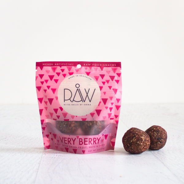Very Berry Raw Bliss Balls