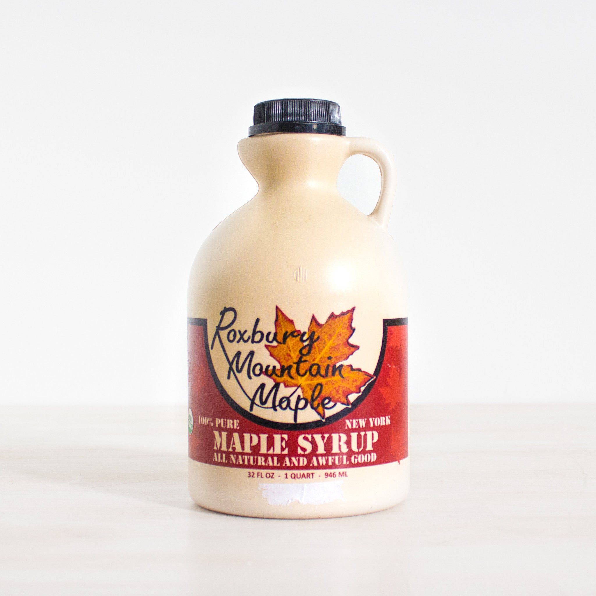 f0c10a65fc2 Grade A Dark Maple Syrup Quart by Roxbury Mountain Maple