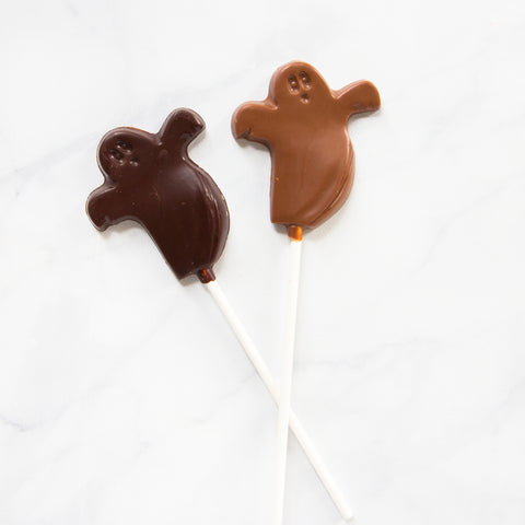 Chocolate Ghost Pops
