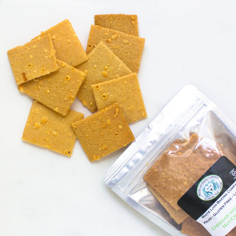 Paleo Cheddar Sea Salt Crackers