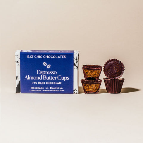 Dark Chocolate Espresso Almond Butter Cups