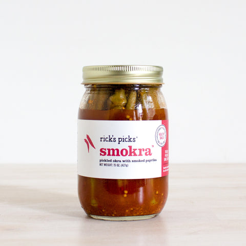 Smoked Okra Pickles