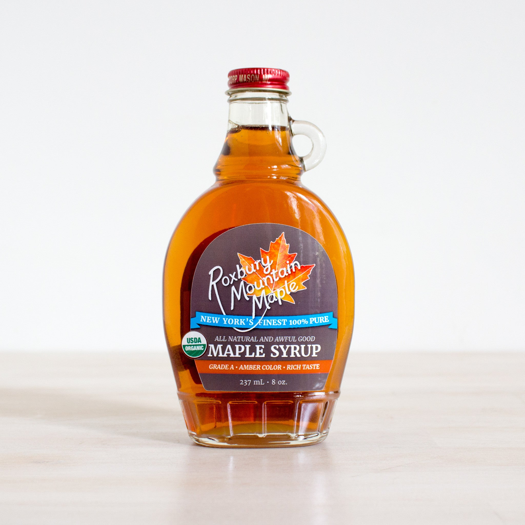 9f396296910 New York State Grade-A Maple Syrup. Made by Roxbury Mountain Maple
