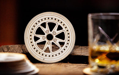WOODEN WHEEL COASTERS