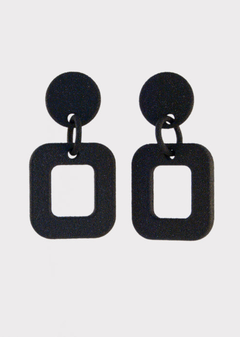 Single Square Drop Earrings