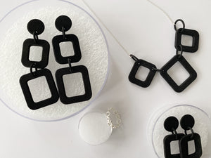 Two Squares Drop Earrings