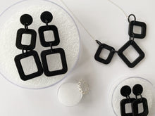 Load image into Gallery viewer, Single Square Drop Earrings