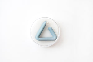Sage Triangle Hoop by Algatite - 3D Printed Nylon with Sterling Silver