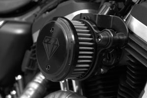 The Diamond Range Black Diamond Harley-Davidson Sportster Air Cleaner Assembly