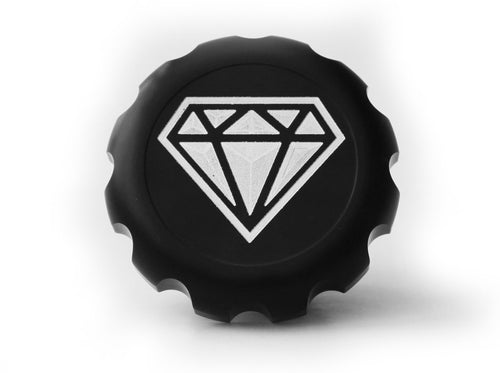 The Diamond Range Original Series Black Harley-Davidson Contrast Cut Diamond Gas Cap