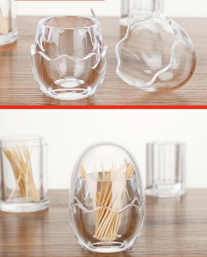 1 pc Toothpick Holders Transparent Egg ShapeHome Table Decoration