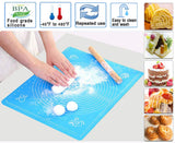 Multicolor Baking Mat Food Grade silicone non-stick baking mat oven with high temperature dough pad fondant pastry cooking tool