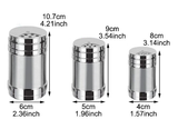 3 size in one Box Jars for Spices Salt Pepper Shaker Spice Organizer Toothpick Holder Seasoning Bottle Container Kitchen Gadgets tools