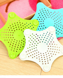 Bathroom Sink -point Star Silicone Shower Filter Outfall Sewer Strainer Anti-blocking Floor Drain Hair Stopper & Catchers 4 pcs multi colors