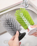 Silicone Rubber Suction Pad Brush Up for Sink Wash Basin Mugs Bottles Glass Crockery Glasswar