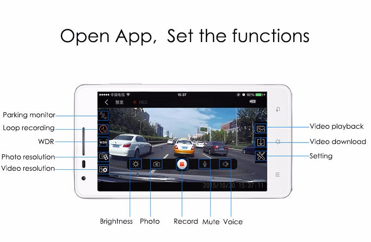 hidden dash cam feature