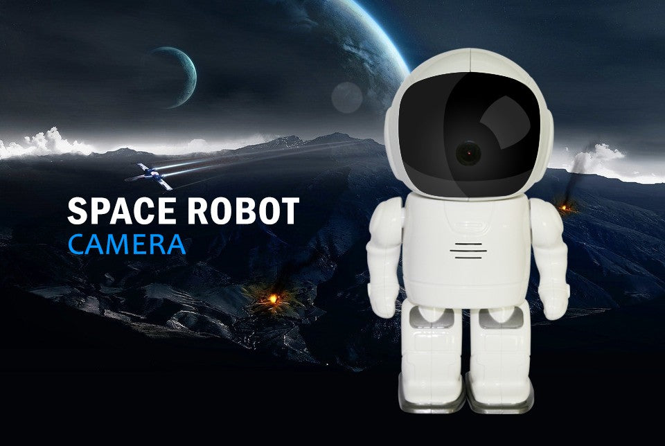 Astronaut Robot Rotating Ip Camera features