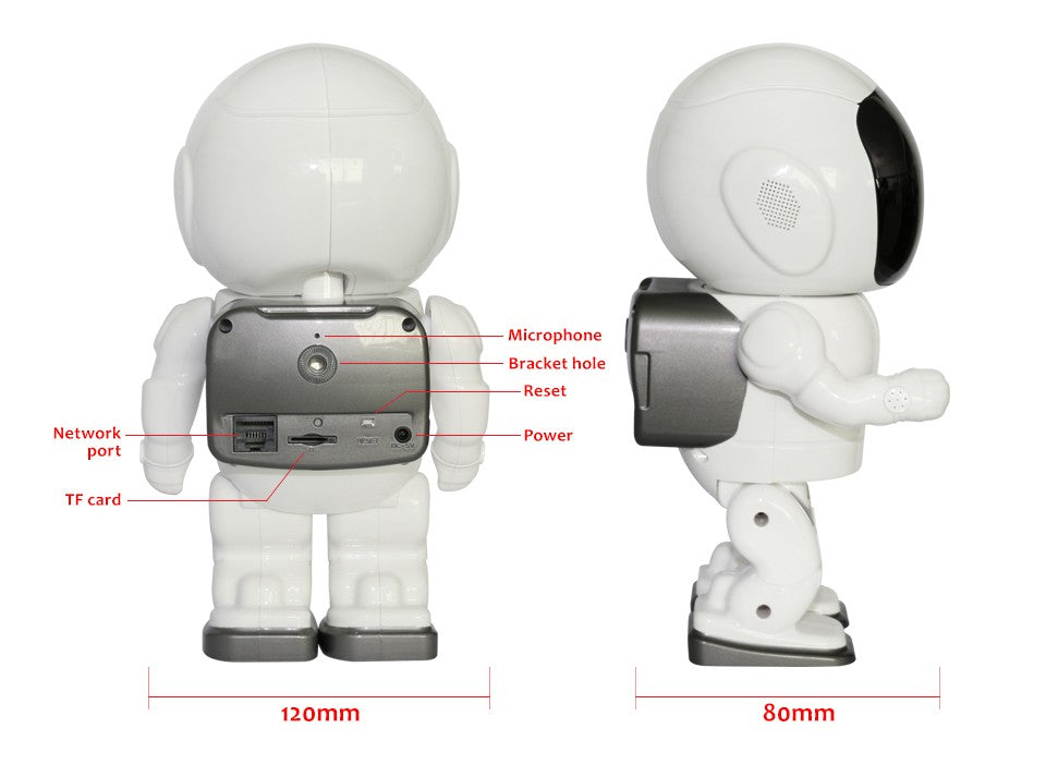Astronaut Robot Rotating Ip Camera structure