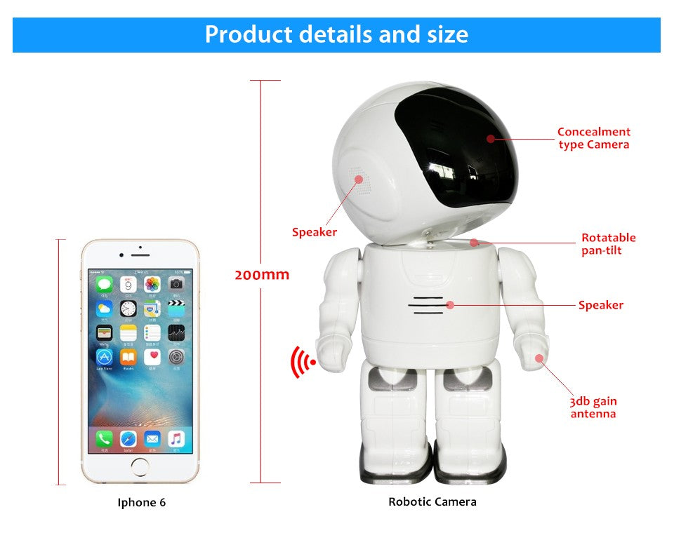 Astronaut Robot Rotating Ip Camera size