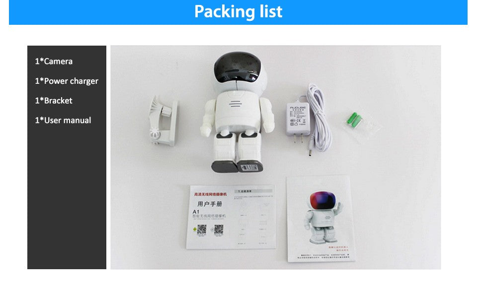 Astronaut Robot Rotating Ip Camera packing list