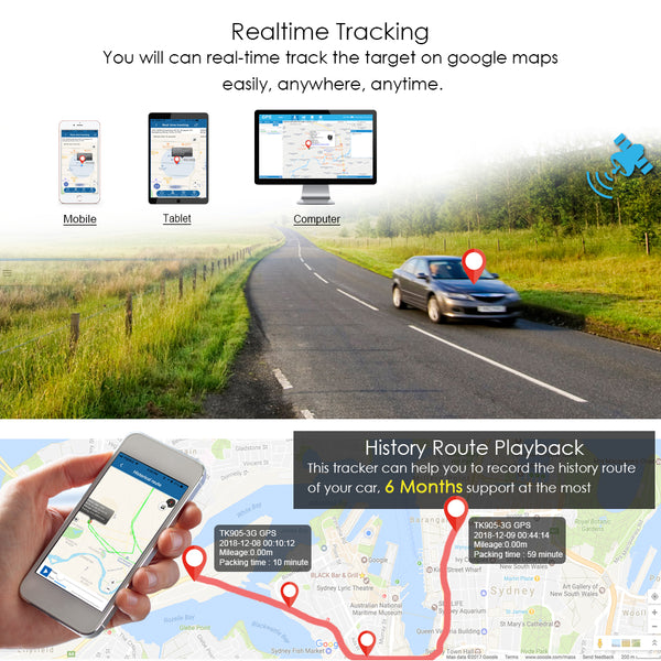 3g gps tracker function