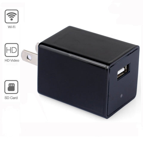 WiFi USB Wall Charger Hidden Spy Camera