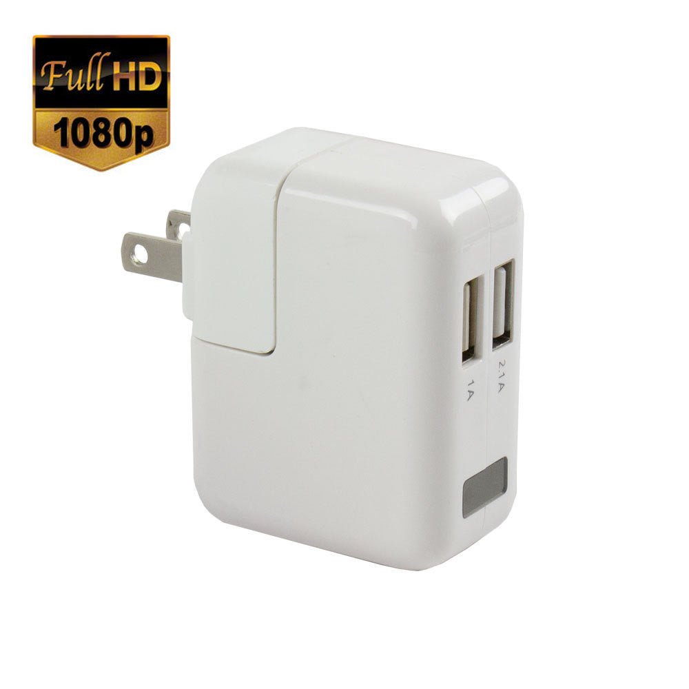 Dual USB Wall Charger Hidden Spy Camera