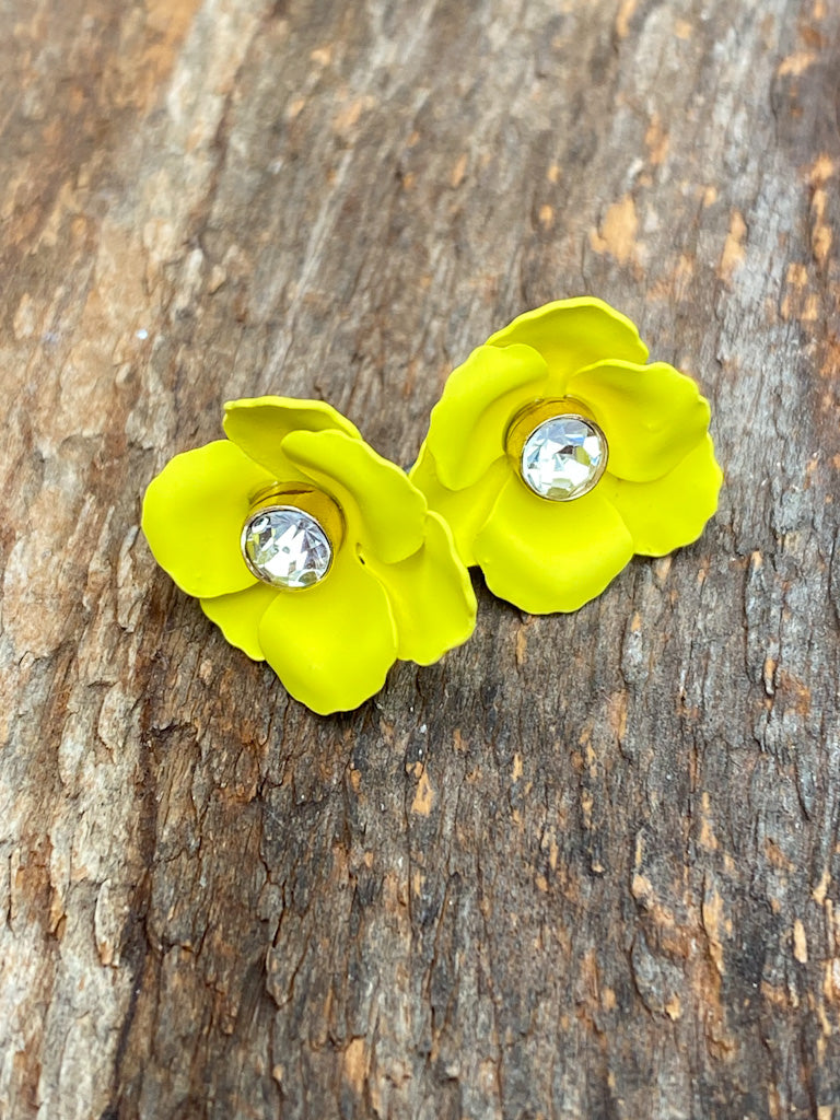 floral stud earrings 3025 FINAL SALE NO EXCHANGE