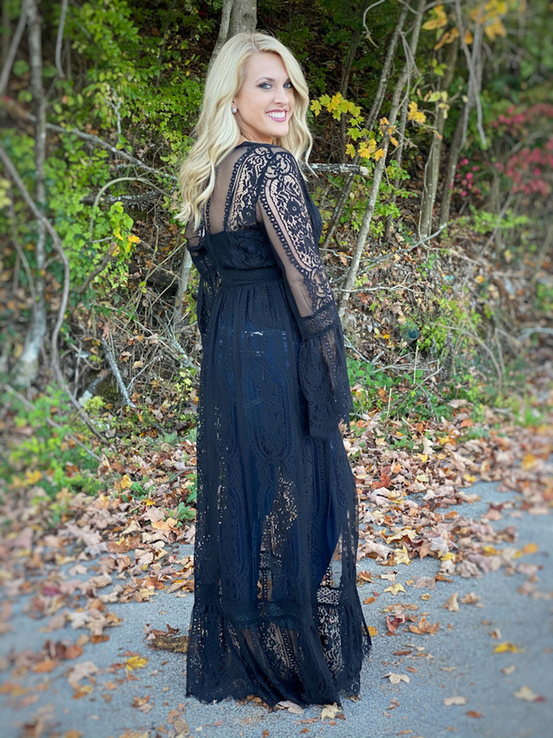 black lace duster A32