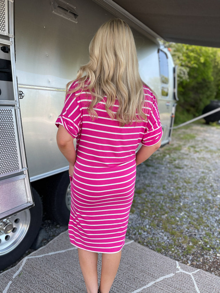 pink/white striped dress C3
